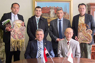In activating the cooperation between the Japanese universities of Benha University and university of Miyazaki: Prof. Elkady meets with its president