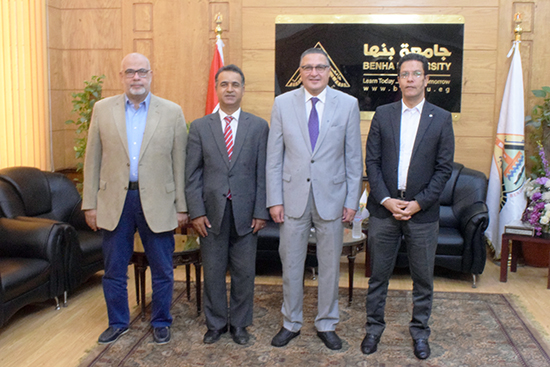 BU President receives the Assistant Cultural Attaché of Libyan Embassy in Cairo