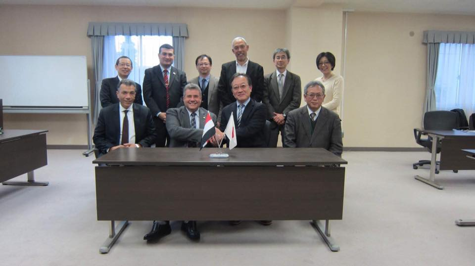 A delegation from Benha University in Japan